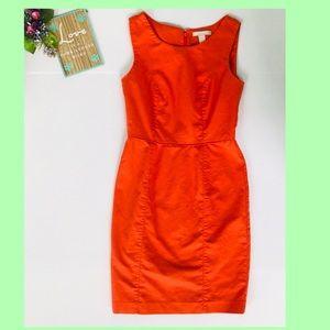 Orange Banana Republic Sleeveless Dress Size 2